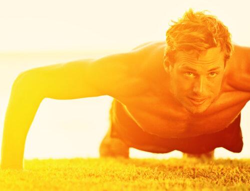 Es ist Sommer und es ist sehr heiß / Motivation zum Sport bei hohen Temperaturen